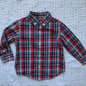 Plaid button down shirt from Janie & Jack